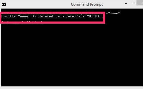 Remove Network-Delete Profiles