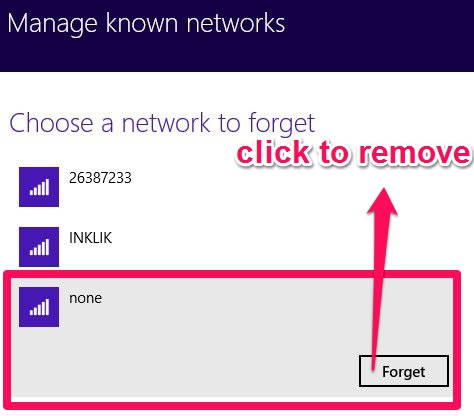 Remove Network-Forget