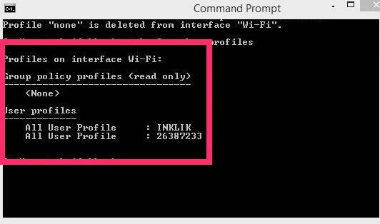 Remove Network-Remove Profiles