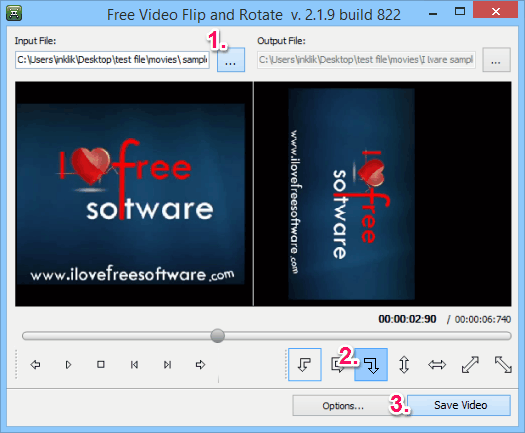Rotate Videos - Free Video Flip And Rotate