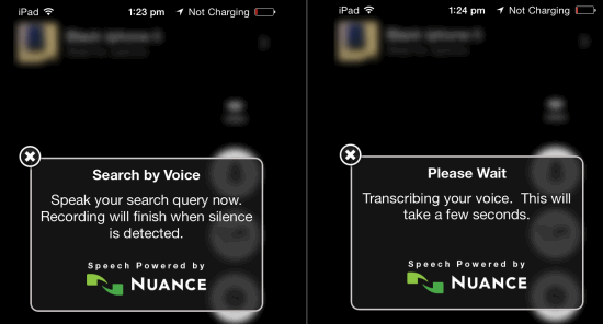 Searching Using Voice