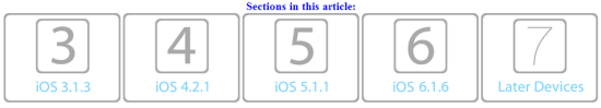 Select iOS Version
