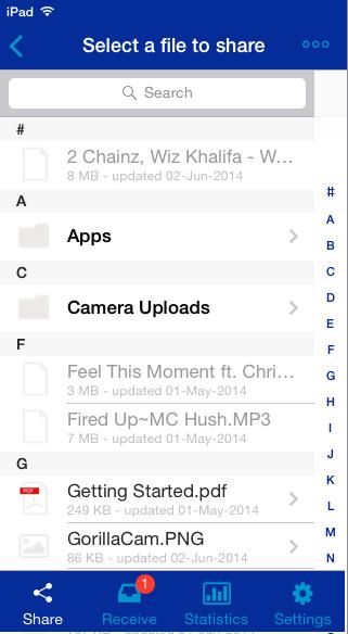 Selecting File