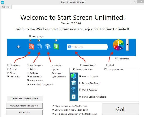 Start Screen Unlimited-Home