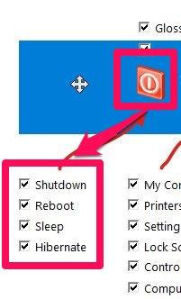 Start Screen Unlimited-Power Options