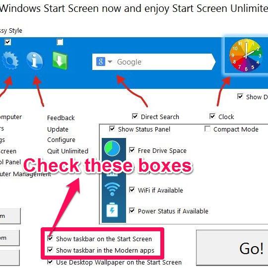 Start Screen Unlimited-Taskbar