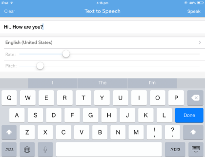 Text to Speech - Voice Synthesiser for iOS