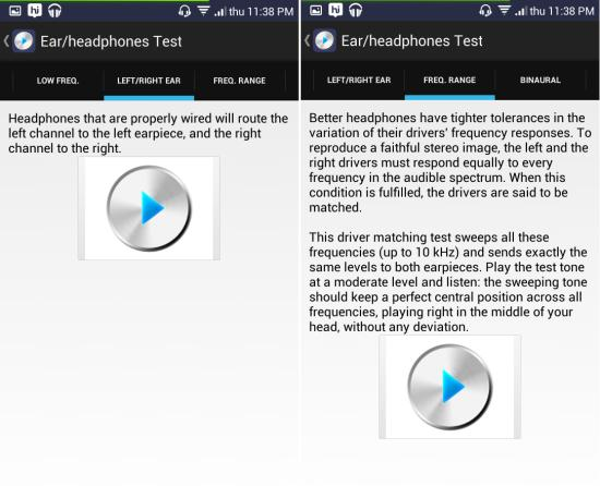 Ultimate Ear Headphone Test for android frequency range test