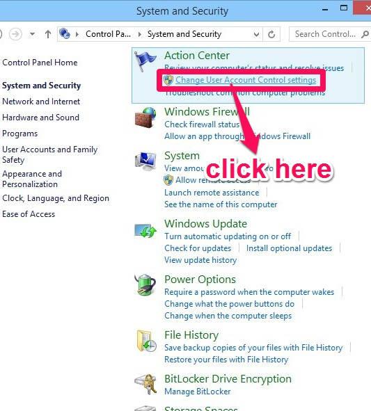 User Acoount Control- Option