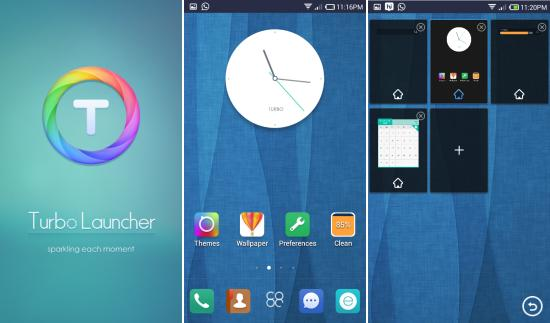 Using Turbo Launcher EX for Android