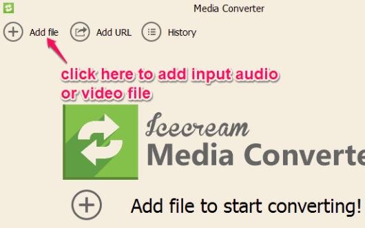 add media file for conversion