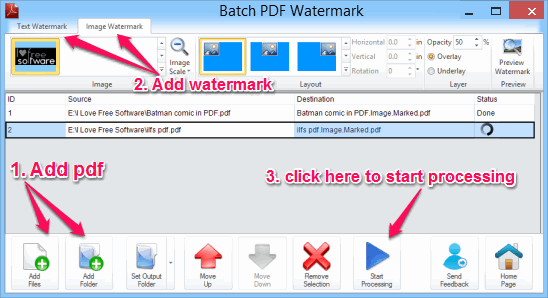 add watermark to PDF - Batch PDF Watermark