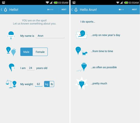 additing information to Hydro Coach for Android