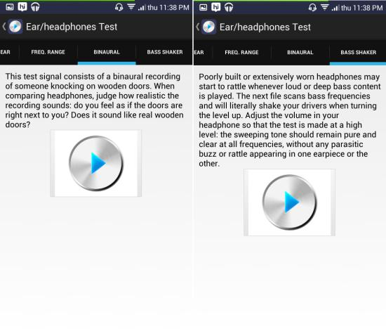 bass shaker test in Ultimate Ear Headphone Test for android