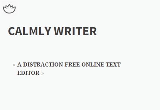 calmly writer header