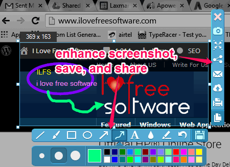 capture, enhance, and share screenshot