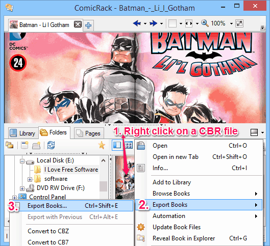 cbr to pdf converter - ComicRack