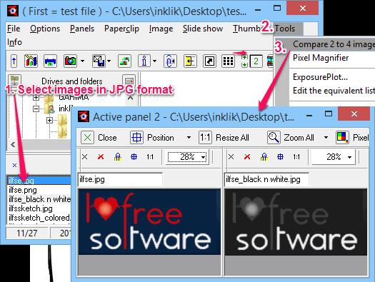 compare images - Wega
