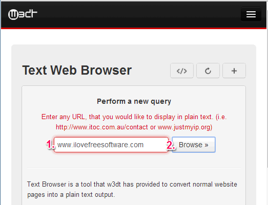convert webpage to text - w3dt