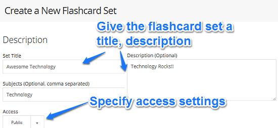 create flashcard step 1