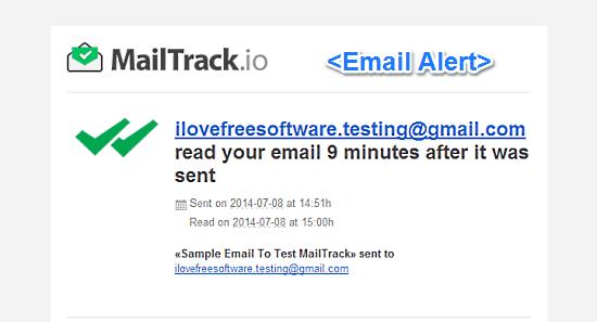 email alert mailtrack