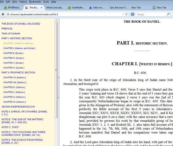 firefox ebook reader addons 3