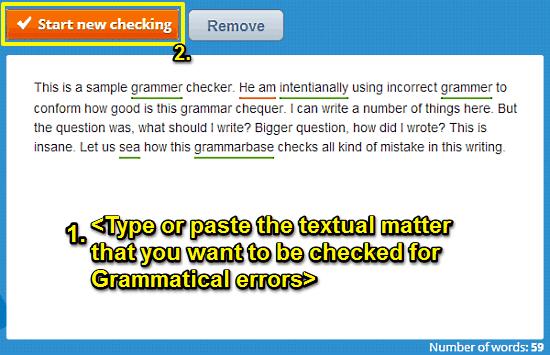 grammar checker incorrect text