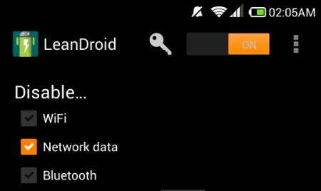 just disable data in leandroid for android