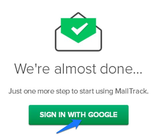 mailtrack google signin