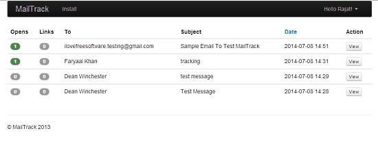 mailtrack summary