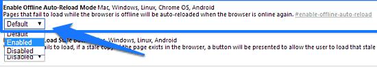 offline stale button