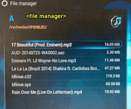 openelec file manager