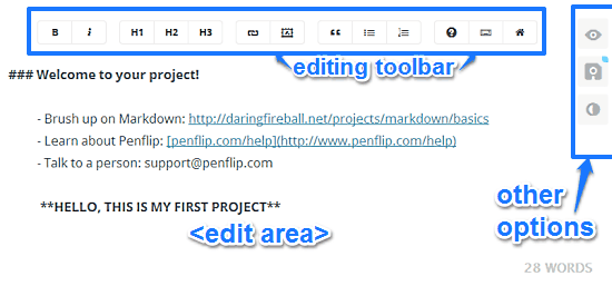 Online Text Editor With Version Control, Collaboration: Penflip