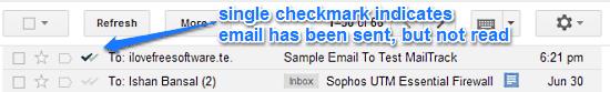 sent email status
