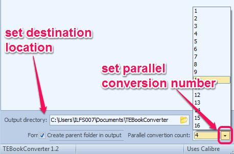 set parallel conversion count