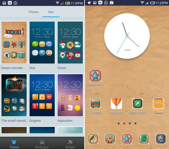 themes in Turbo Launcher EX for Android