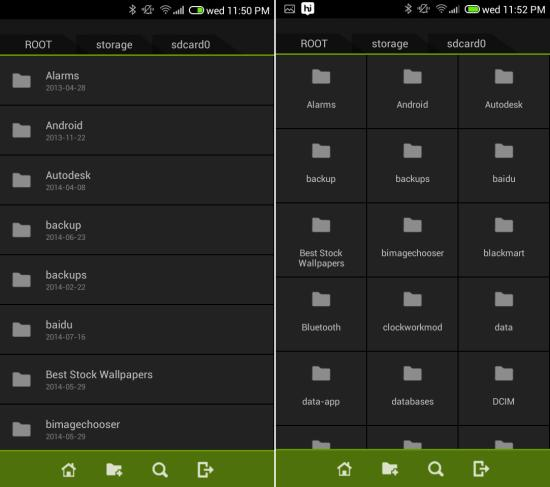 using Fo File Manager for android