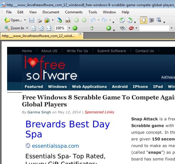 webpage to PDF addons firefox 3