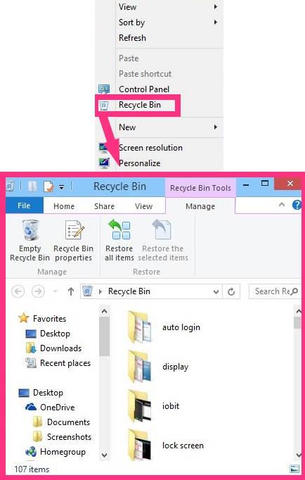 Add Recycle Bin To Context Menu-access recycle bin