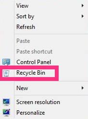 Add Recycle Bin To Context Menu