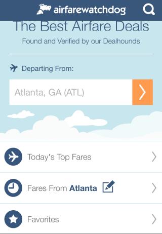 Airfarewatchdog Homepage