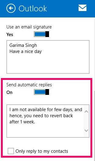 Automatic Send Mail-Option