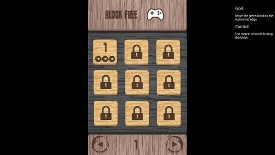 Block Free Level Selection Screen