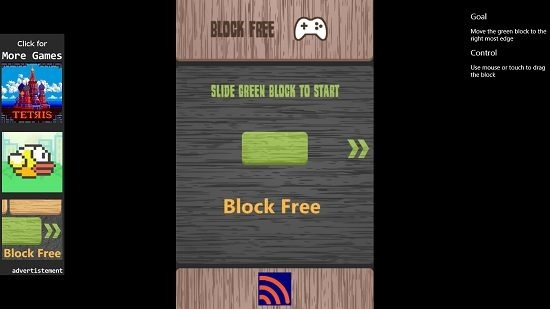 Block Free Main Screen