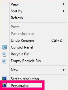 Change Color of window border-Personalize