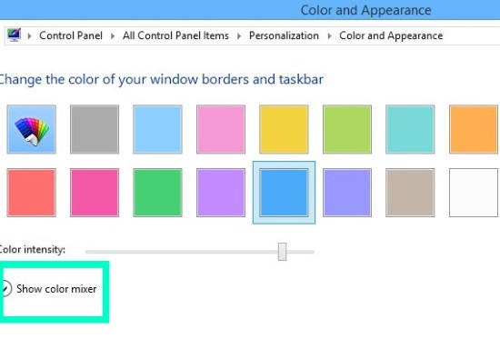 Change Color of window border-Select Color