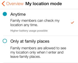 Change Location Mode