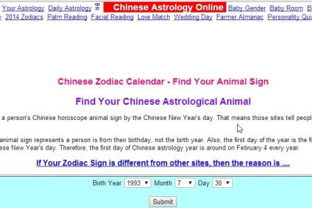 Chinese Astrology Online