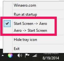 ColorSync-Tray Icon Option