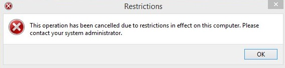 Control Panel-Restrictions